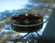 African Blackwood with a offset Green Jasper band