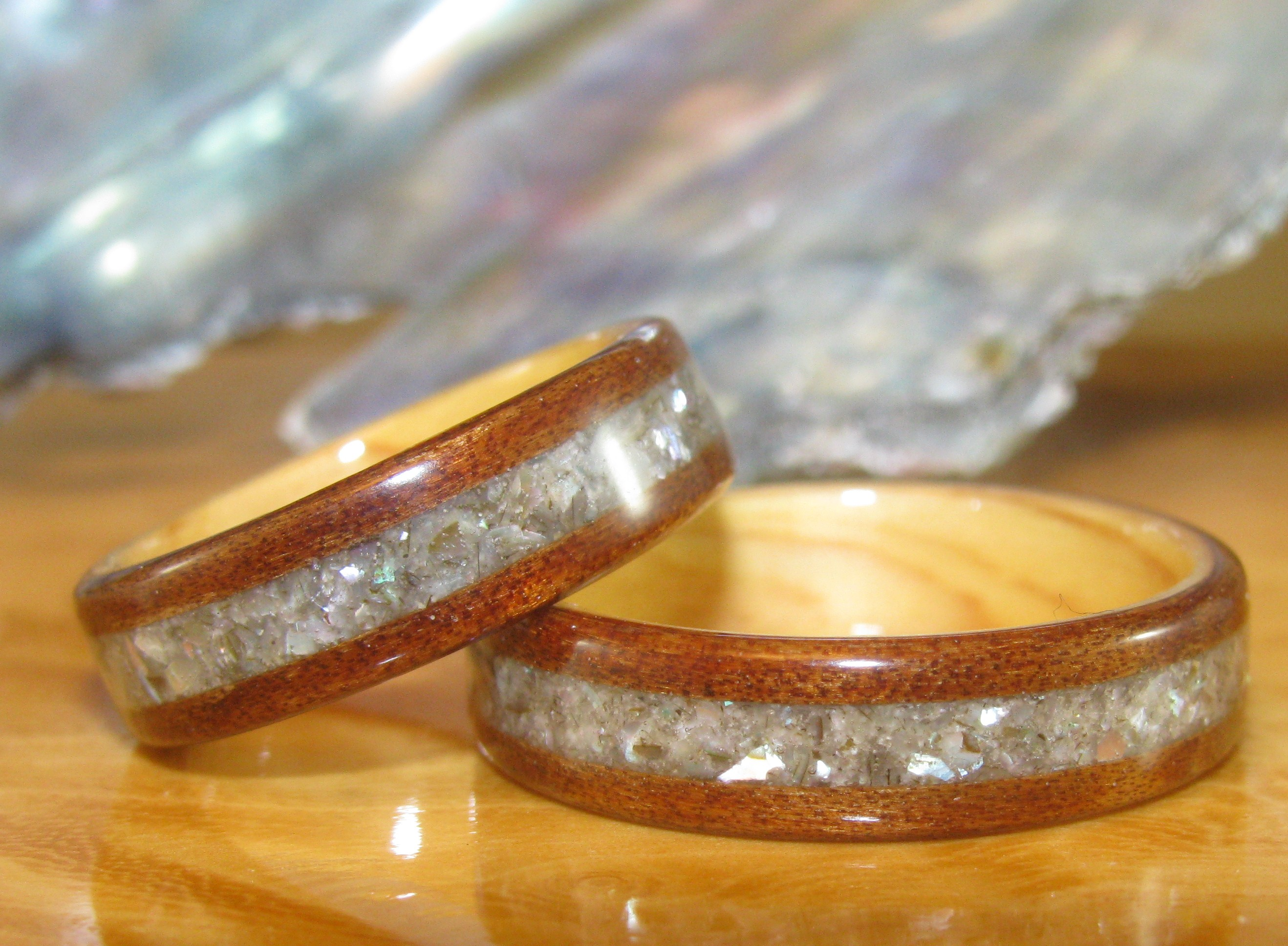 rings a eco abalone are simply wedding wood to alternative pin friendly and beautiful engagement