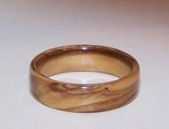Bethlehem Olive wood ring