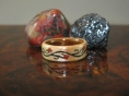 Birch ring with a Rosewood liner and a Tree of Life design