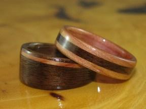 Black Walnut and Juniper Heartwood wedding bands