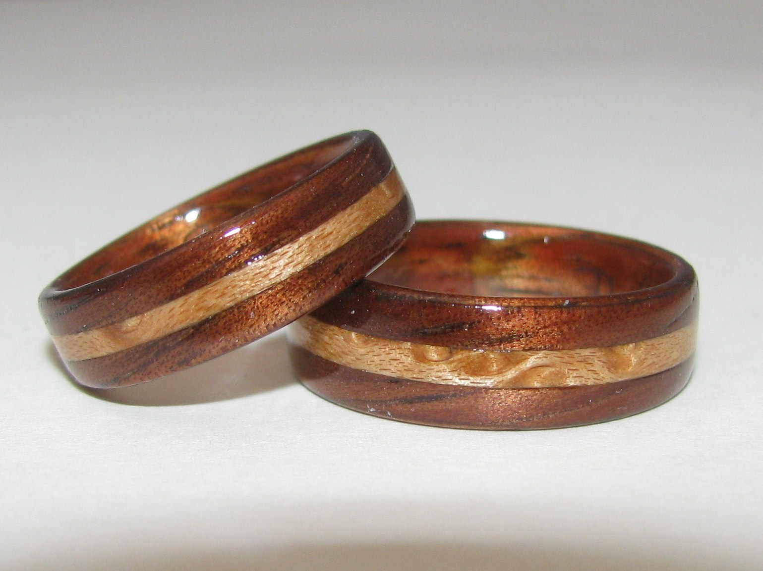 hawaiian bamboo wedding rings