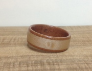 This Arbutus ring has a Bird's Eye Maple with a featured knot