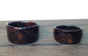 These Ziricote rings show how wonderful a simple wood with a complex grain can be.