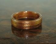 Mid toned Hawaiian Koa ring