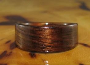 Dark Hawaiian Koa ring